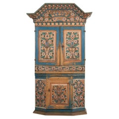 19th Century Swedish Painted Country Cabinet