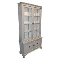 19th Century Swedish Painted Display Cabinet