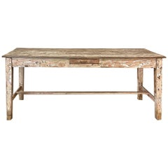 19th Century Swedish Painted Farm Table