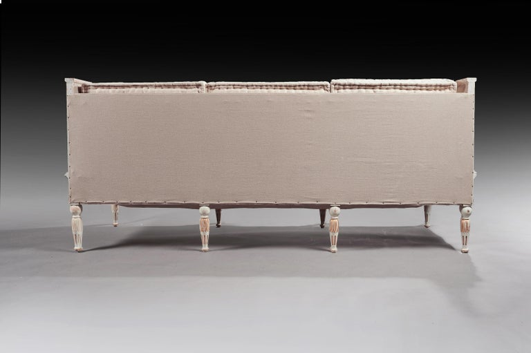 19th Century Swedish Painted Griffin Sofa Gustavian For Sale 5