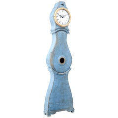 19th Century Swedish Painted Mora Longcase Clock