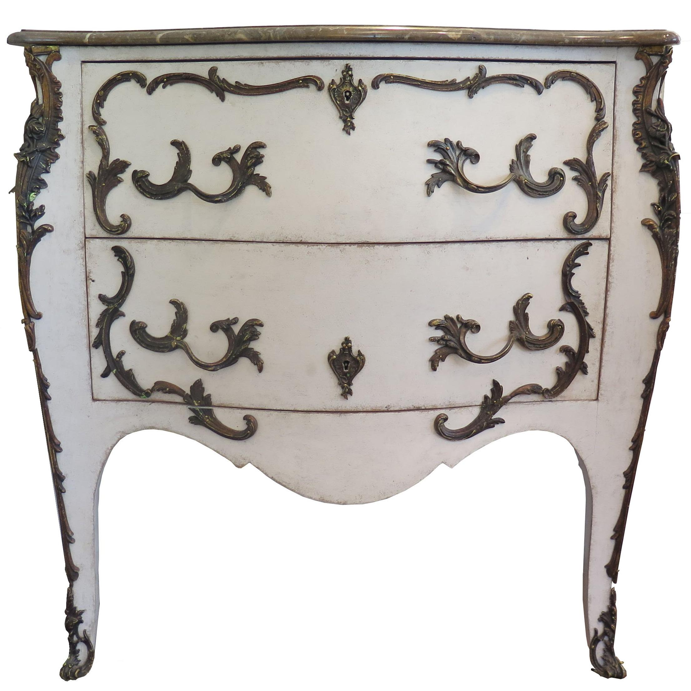 19th Century Swedish Painted Rococo Commode