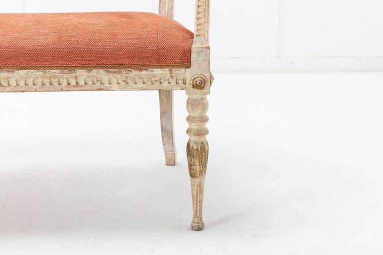 19th Century Swedish Painted Sofa For Sale 1