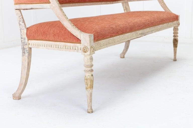 19th Century Swedish Painted Sofa For Sale 2