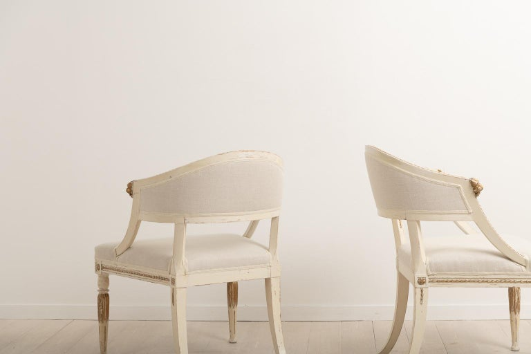 19th Century Swedish Pair of Barrel Back Armchairs For Sale 3