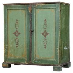 19th Century Swedish Pine Painted 2-Door Cupboard
