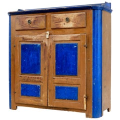 19th Century Swedish Pine Painted Kitchen Cupboard