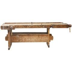 19th Century Swedish Pine Work Bench