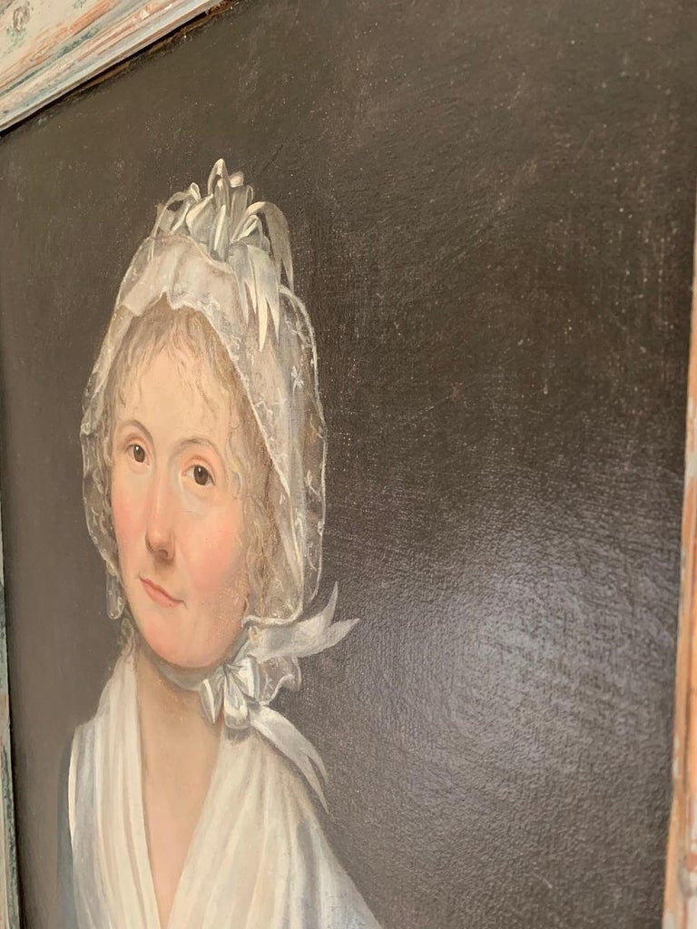 19th Century Swedish Portrait Painting For Sale 1