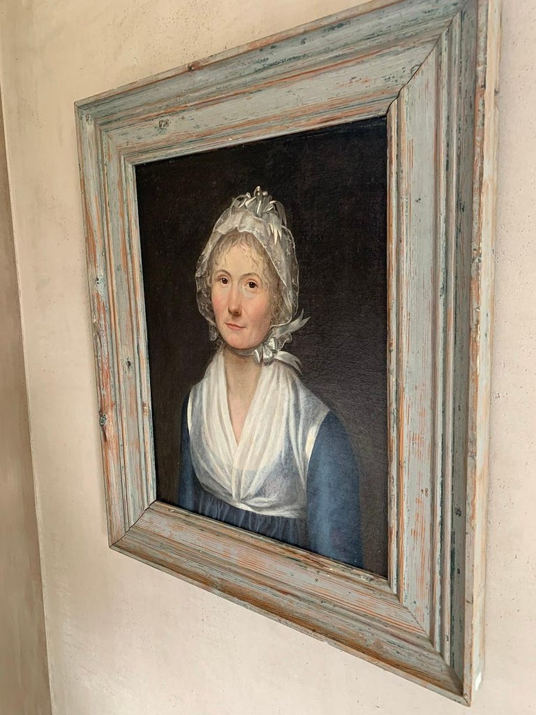 19th Century Swedish Portrait Painting For Sale 2