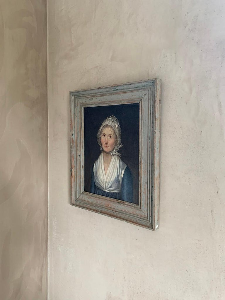 19th Century Swedish Portrait Painting For Sale 3