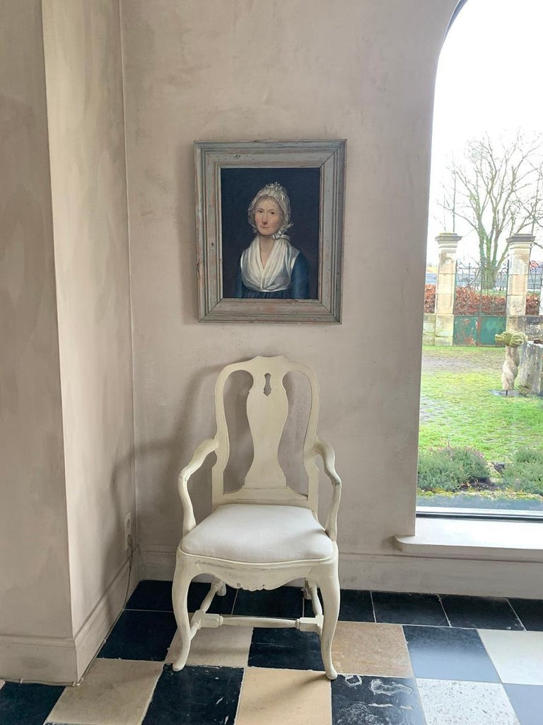 19th Century Swedish Portrait Painting For Sale 4