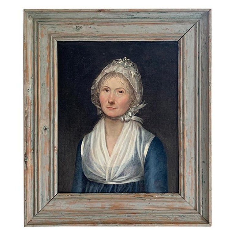 19th Century Swedish Portrait Painting For Sale