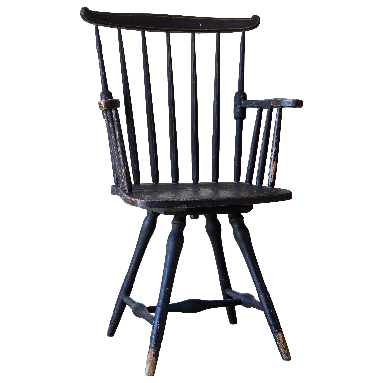19th Century Swedish Provincial Desk Chair
