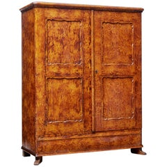 19th Century Swedish Ragwork Pine Cupboard