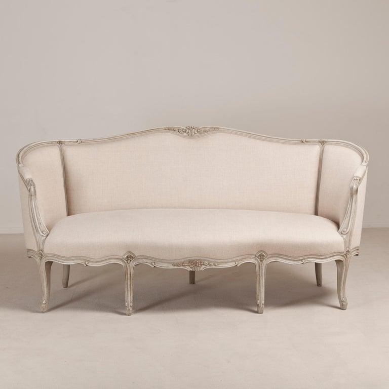 19th Century Swedish Rococo Inspired Sofa, circa 1880 For Sale 2