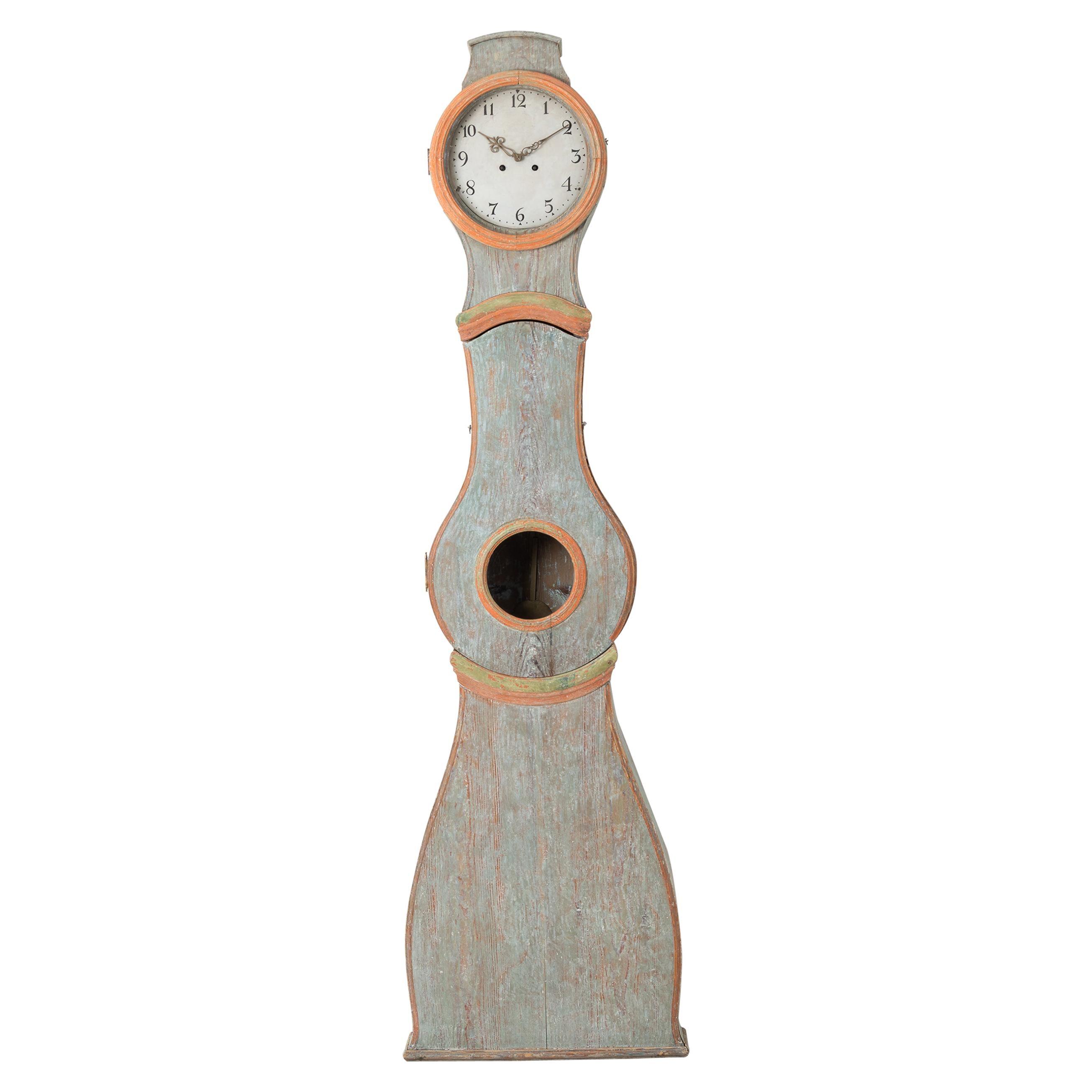 19th Century Swedish Rococo Long Case Clock