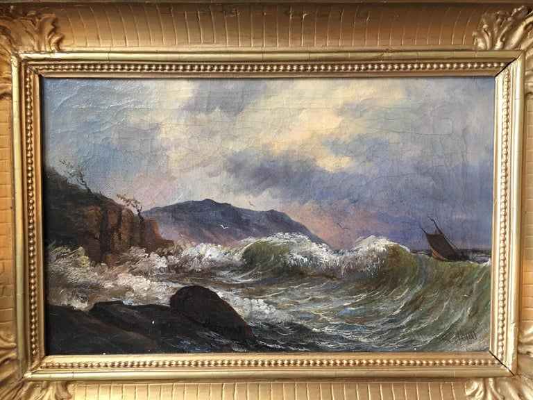19th Century Swedish Seascape In Good Condition In Cold Spring, NY