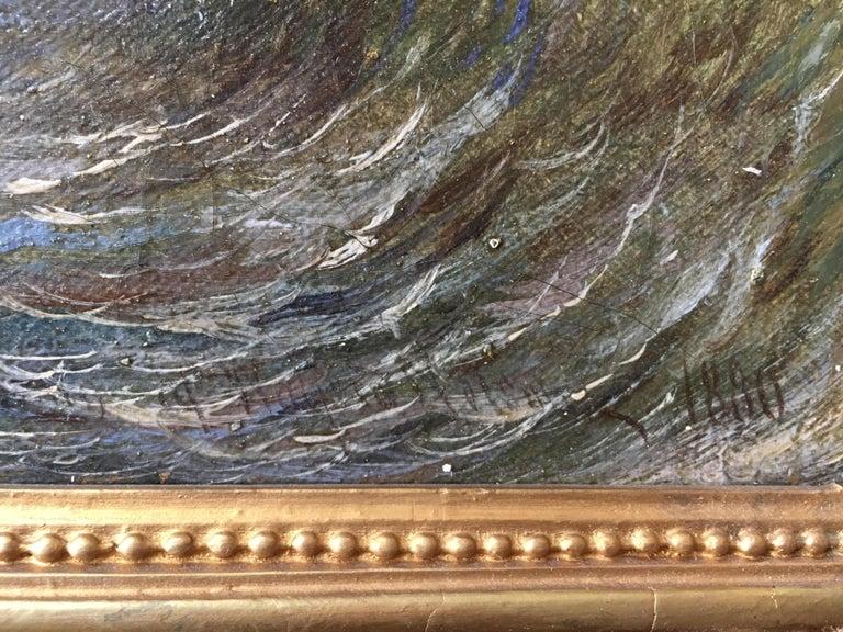 Canvas 19th Century Swedish Seascape