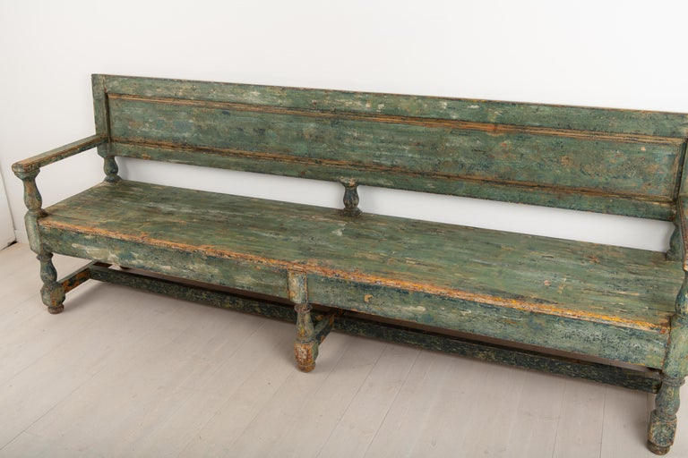 19th Century Swedish Sofa Bench in Baroque Style For Sale 5