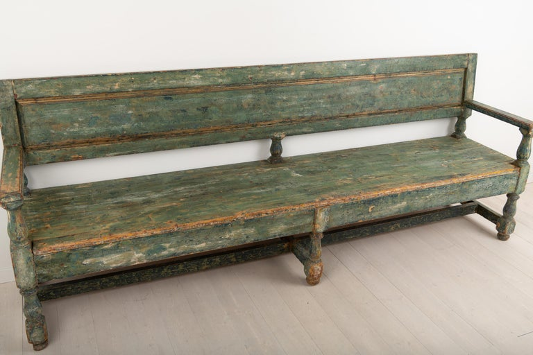 19th Century Swedish Sofa Bench in Baroque Style For Sale 6
