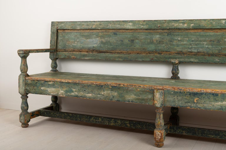 19th Century Swedish Sofa Bench in Baroque Style For Sale 7