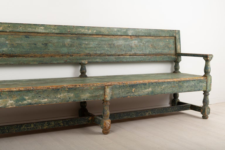 19th Century Swedish Sofa Bench in Baroque Style For Sale 8