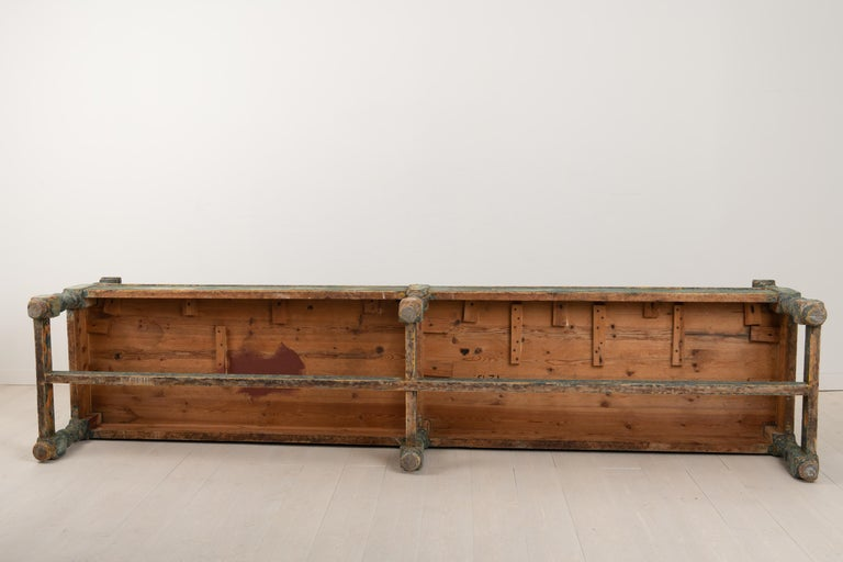 19th Century Swedish Sofa Bench in Baroque Style For Sale 9
