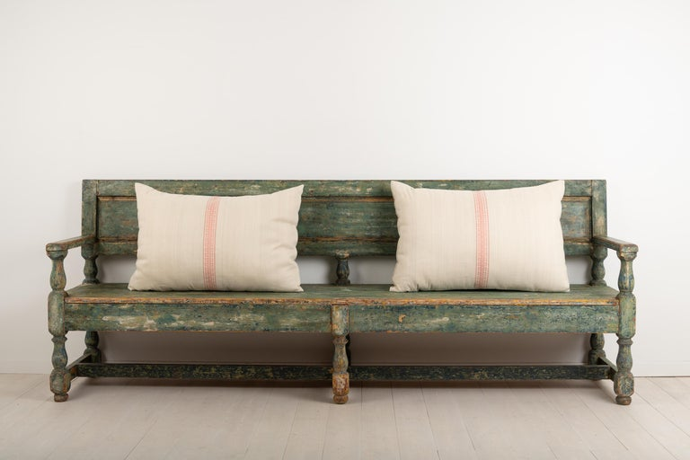 Hand-Crafted 19th Century Swedish Sofa Bench in Baroque Style For Sale