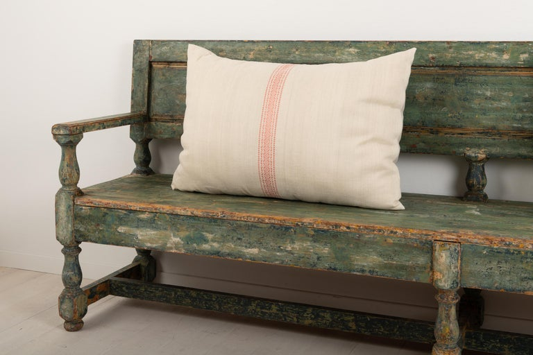 19th Century Swedish Sofa Bench in Baroque Style In Good Condition For Sale In Kramfors, SE