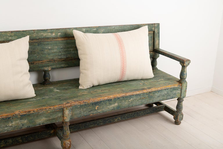 19th Century Swedish Sofa Bench in Baroque Style For Sale 1