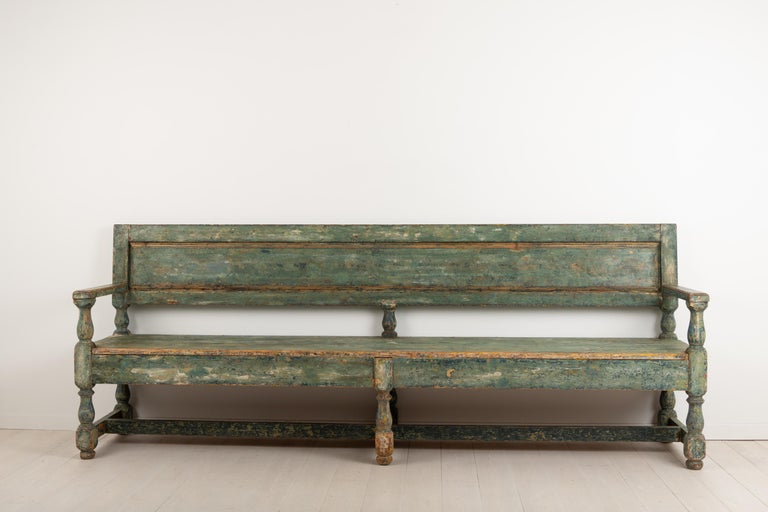 19th Century Swedish Sofa Bench in Baroque Style For Sale 2