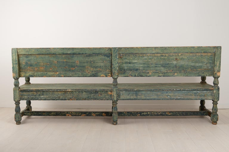 19th Century Swedish Sofa Bench in Baroque Style For Sale 3