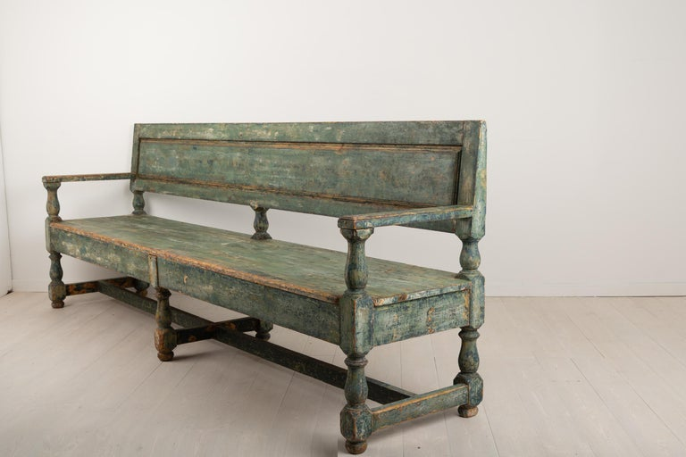19th Century Swedish Sofa Bench in Baroque Style For Sale 4