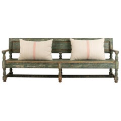 19th Century Swedish Sofa Bench in Baroque Style