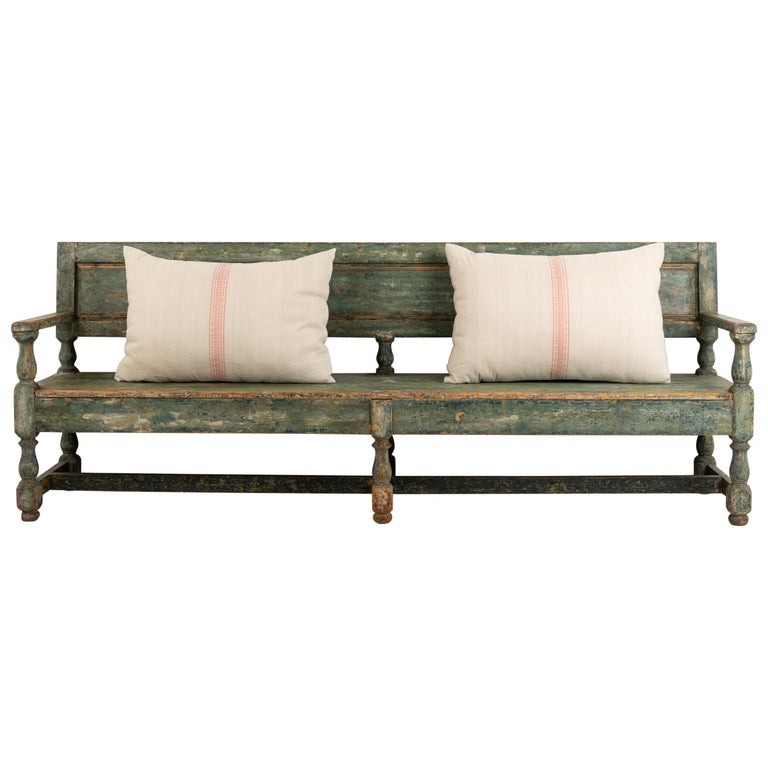 19th Century Swedish Sofa Bench in Baroque Style For Sale