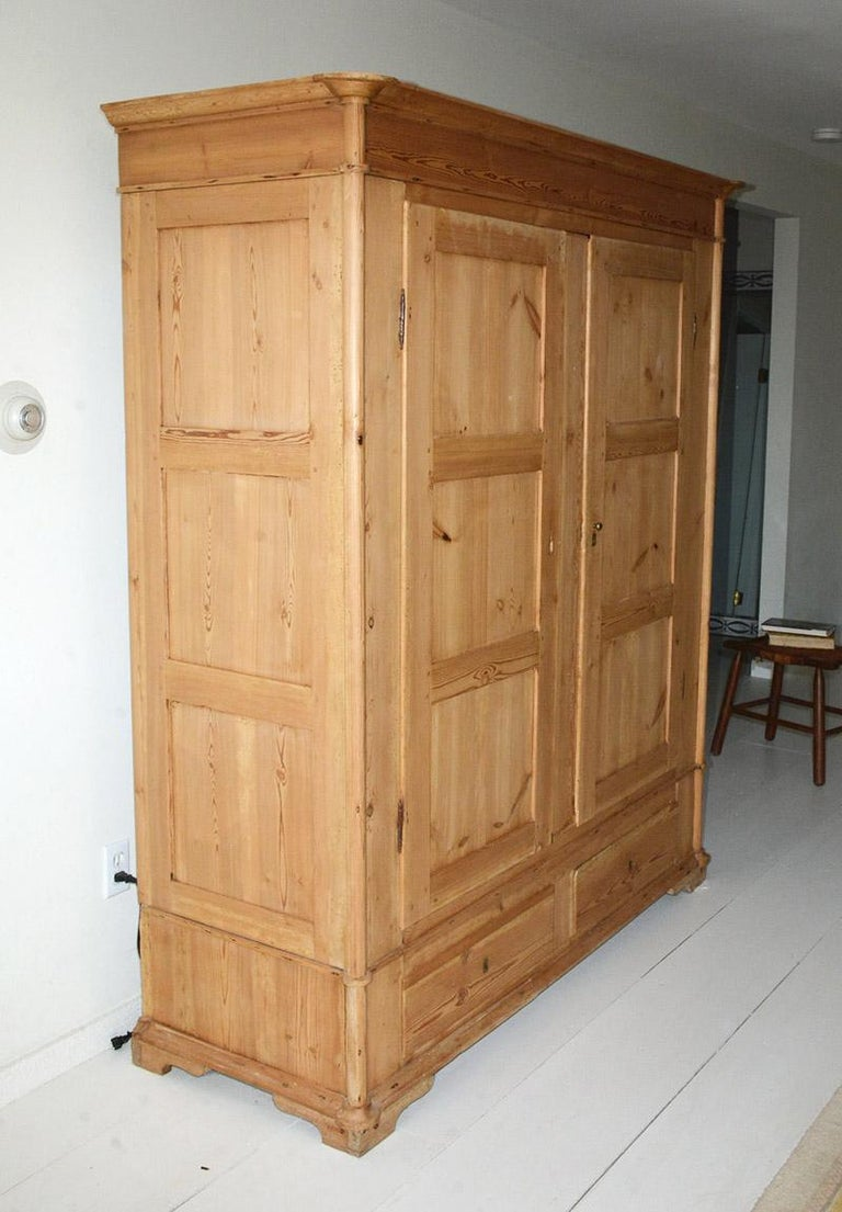 Country 19th Century Swedish Style Pine Cupboard For Sale