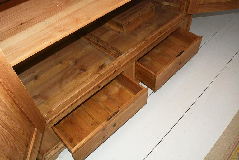 19th Century Swedish Style Pine Cupboard In Good Condition For Sale In Great Barrington, MA