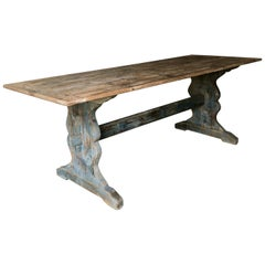19th Century Swedish Trestle Table