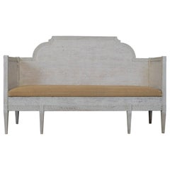 19th Century Swedish Trundle Sofa or Daybed