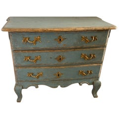 19th Century Swedish Unusual Small Painted Chest