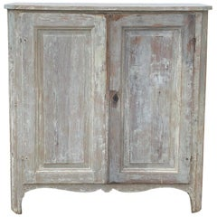 19th Century Swedish Whitewashed Cupboard or Cabinet