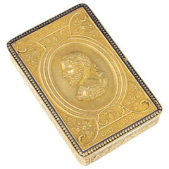 19th Century Swiss 18 Karat Gold and Enamel Snuff Box, Geneva, circa 1800