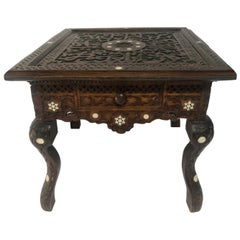 19th Century Syrian Inlay Mother of Pearl Table