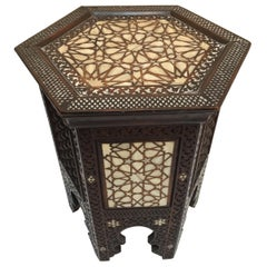 19th Century Syrian Mother-of-Pearl Inlaid Side Table