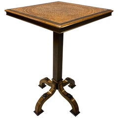 19th Century Table in Ebony and Mother of Pearl Inlay in the Manner of Gillows