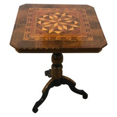 19th Century Table in Marquetry