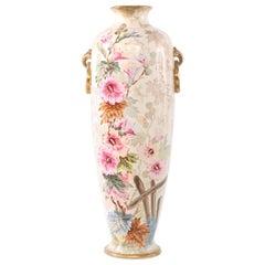 19th Century Tall Gilt Porcelain Decorative Vase / Piece