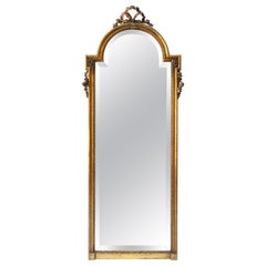 19th Century Tall Louis XVI Carved Giltwood Mirror