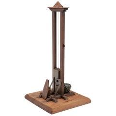 19th Century Tall Miniature Guillotine Cigar Cutter